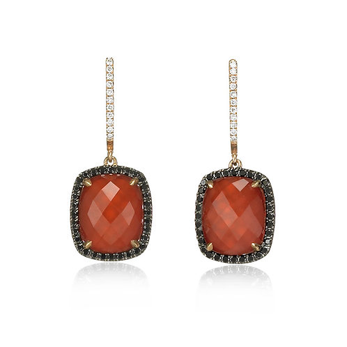 """Phoenix Fire"" Agate & Diamond Earrings"