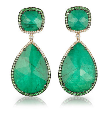 """La Poire Verta"" Emerald Earrings"