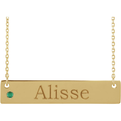 """""""For You"""" Personalized Bar Necklace"""