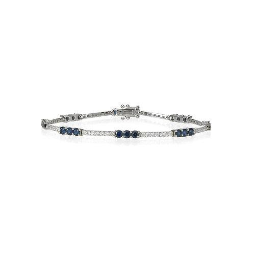 """ Sapphire Bonbons"" Diamond Bracelet"