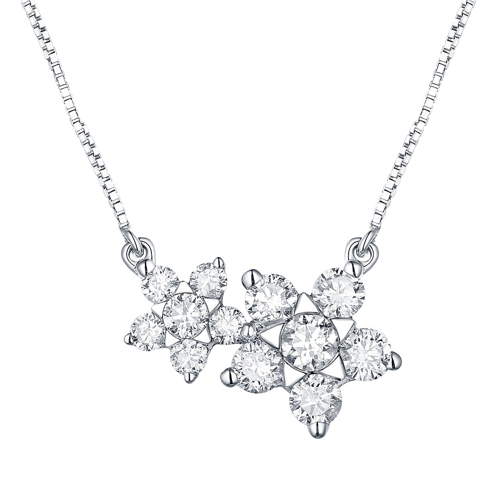 Diamond Lily Necklace - Carats & Stones