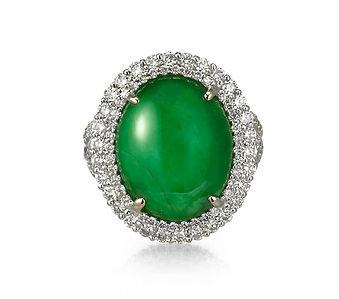 jadeite diamond ring