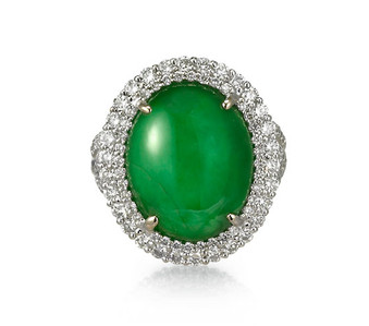 jadeite diamond ring