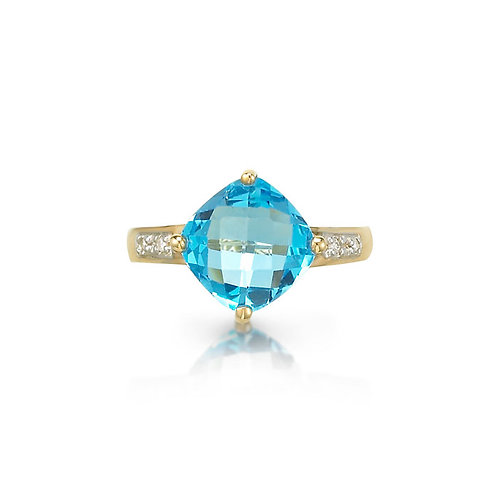 """Sunrise at Sea"" Topaz Ring"