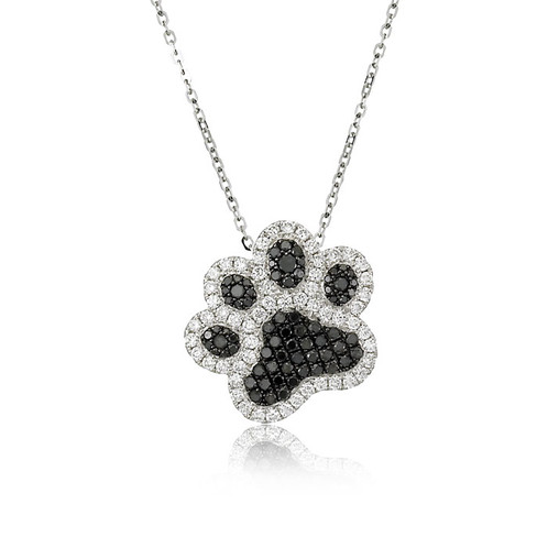 Best friend diamond dog paw pendant carats and stones best friend diamond dog paw pendant carats and stones mozeypictures Images