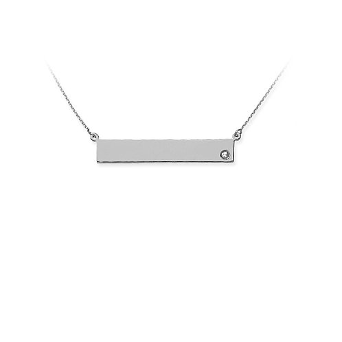 """For You"" Diamond Bar Necklace"