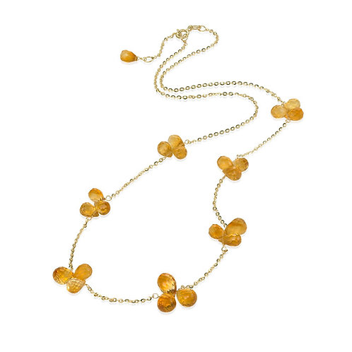 """Summer's Day"" Citrine Necklace"