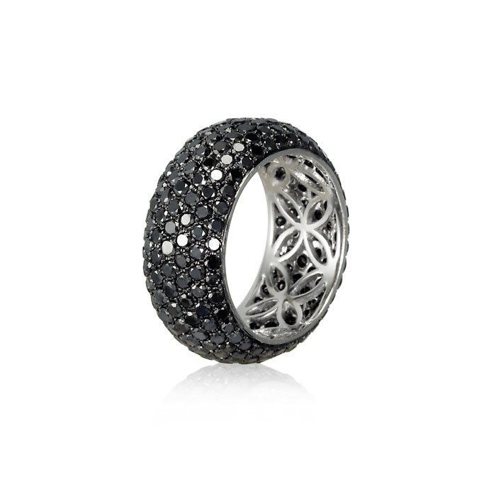 """Nightshade"" Black Diamond Band"