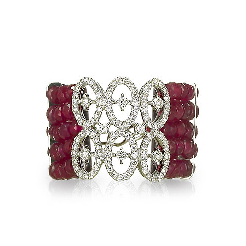 """Inifnita"" Ruby & Diamond Ring"