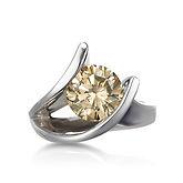 night fire cognac diamond ring