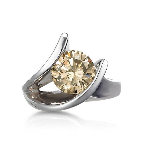 """ Night Fire"" Cognac Diamond Ring"