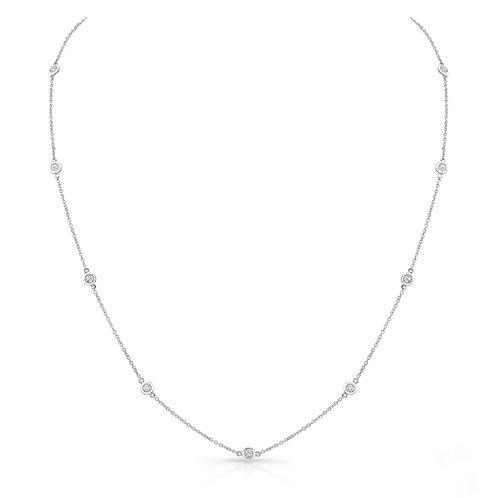 Diamond Bezel Layering Necklace