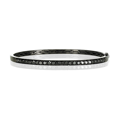 """Milan"" Black Diamond Bangle"