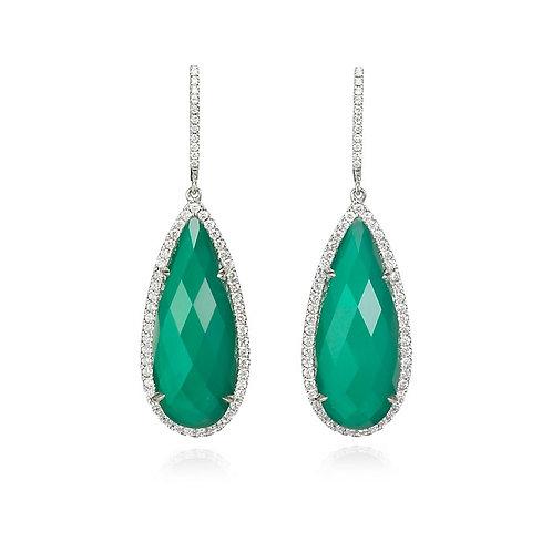 """""""Belarra"""" Agate & Diamond Earrings"""