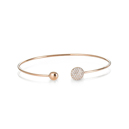 """Lunar Eclipse"" Diamond Bangle"