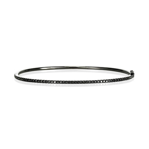 """Brussels"" Black Diamond Bangle"