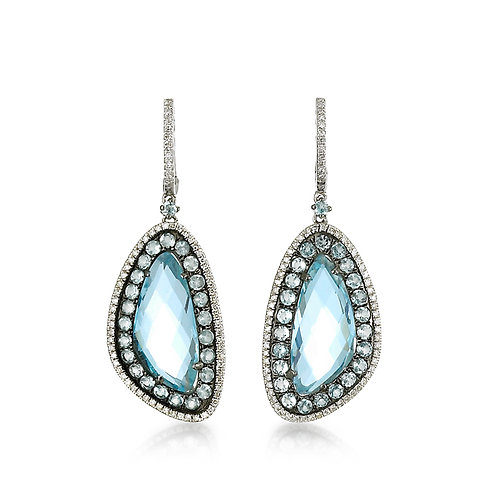"""Madeleine"" Blue Topaz Earrings"