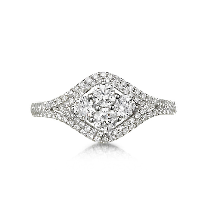 """""""Cantante"""" Diamond Cluster Ring"""