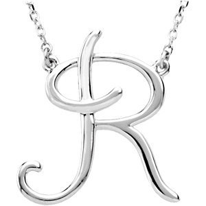 """""""For You"""" Script Initial Necklace"""