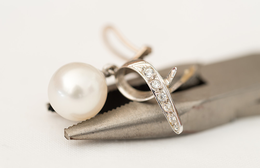 Pearl earring repair