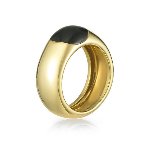 """Orpheus"" Black Onyx Ring"
