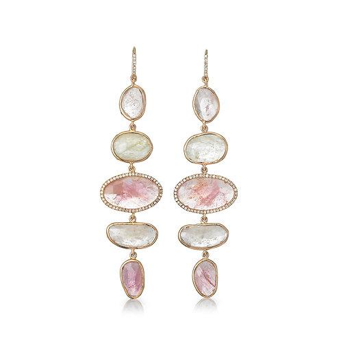 """Nonparelis"" Sapphire Earrings"