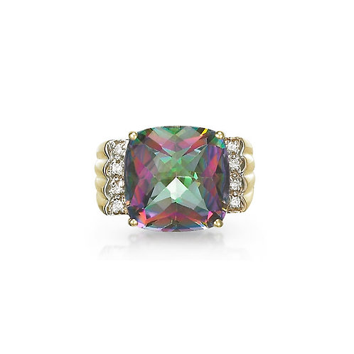 """Adagio""Rainbow Topaz Ring"