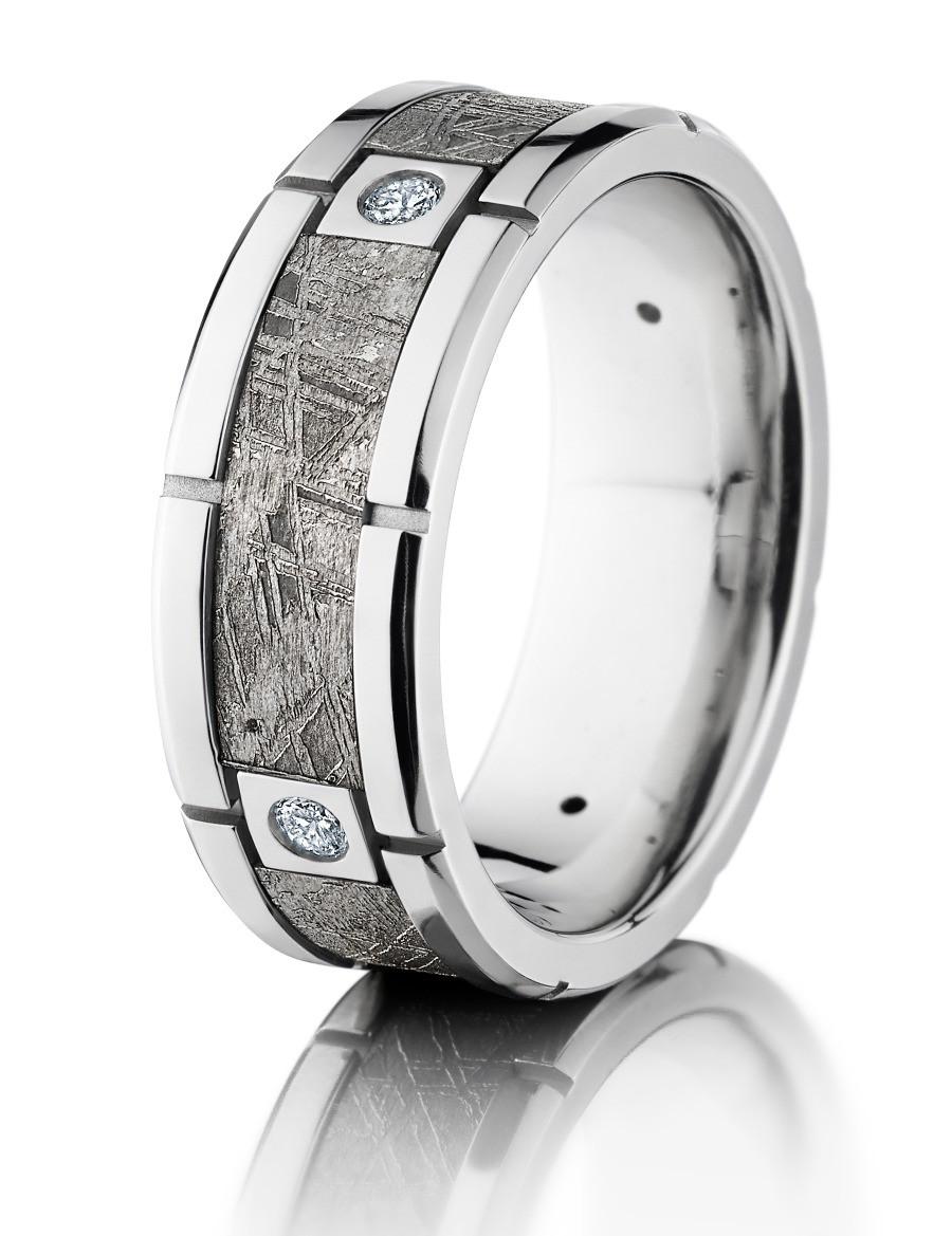Meteorite Men's Ring - Carats & Stones
