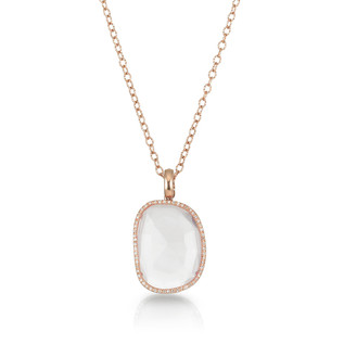 Rose Quartz Rose Gold Necklace
