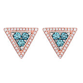 trillione blu earrings