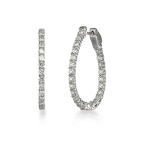 """Lucky"" Diamond Hoop Earrings"