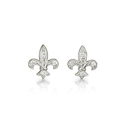 Fleur-de-Lis Diamond Earrings