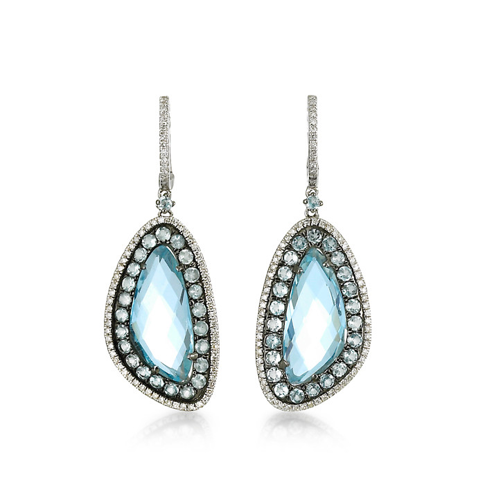 """""""Madeleine"""" Blue Topaz Earrings"""