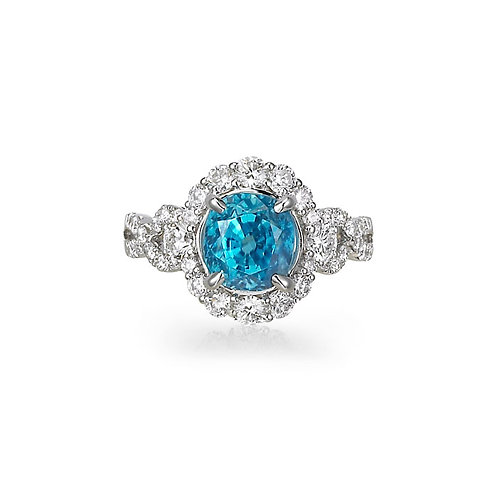 """Hemera"" Blue Zircon Ring"