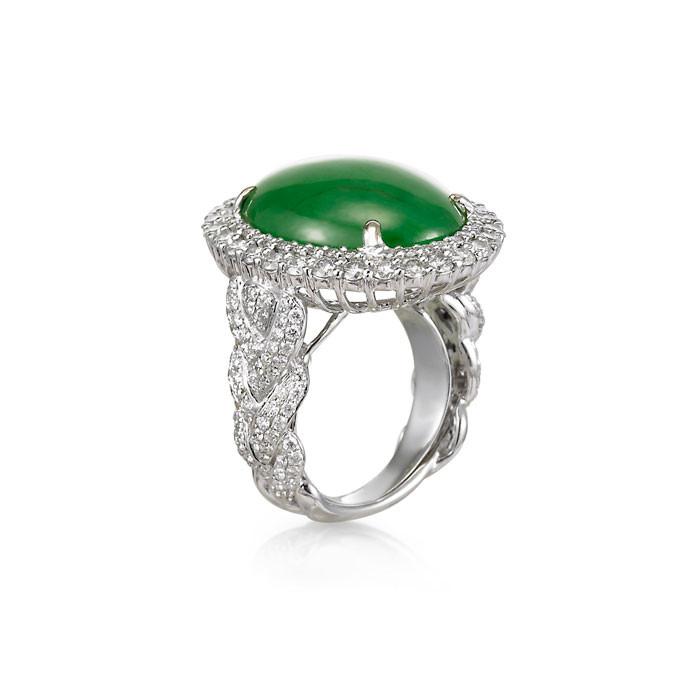 """Yasmina"" Jadeite Jade Ring - Carats & Stones"