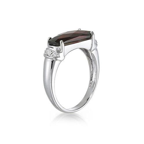 """Andante"" Garnet Ring"