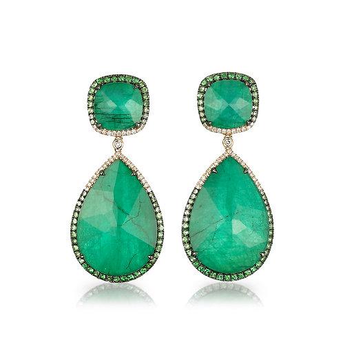 """""""La Poire Verta"""" Emerald Earrings"""