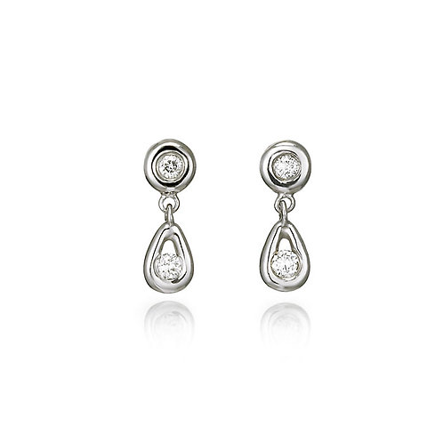 """Bari"" Diamond Earrings"