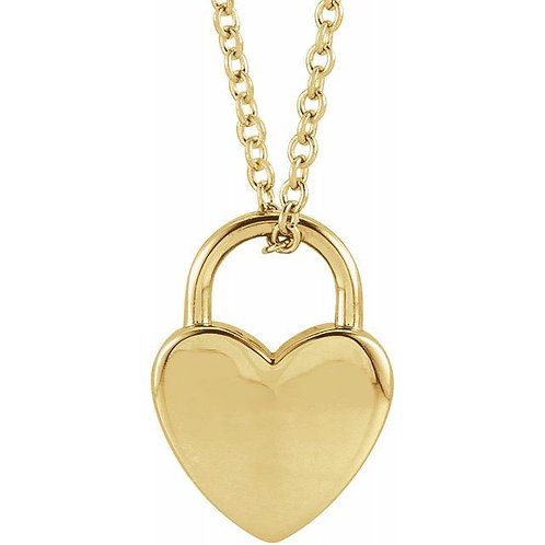 Heart-Shaped Lock Necklace