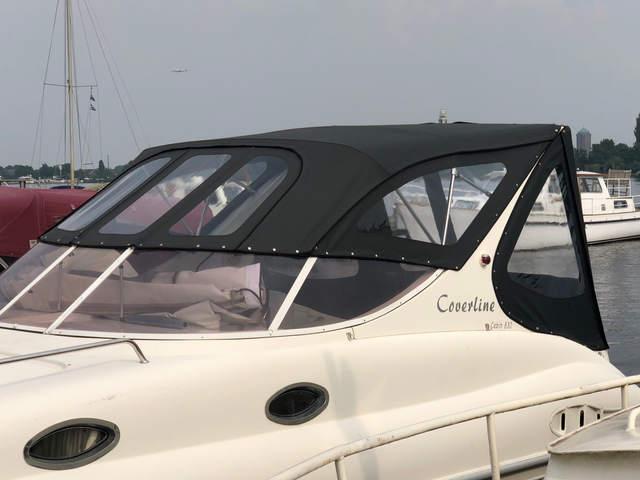 Zwarte kap inclusief ramen