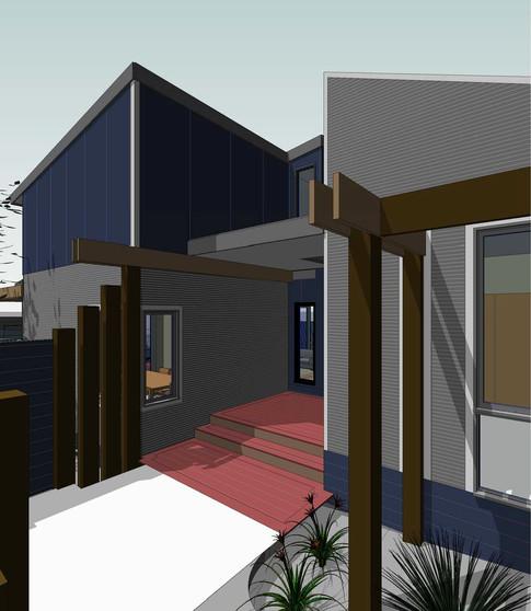 Rise Up Design - 3D front door render