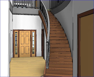 Rise Up Design - 3D render stairs