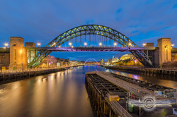 _IMG8527  Tyne and Millenium Bridges at night