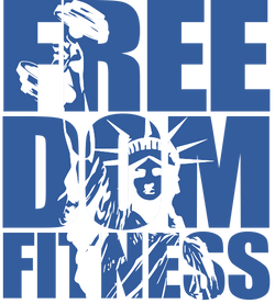 logo freedom bleu et blanc fond transpar