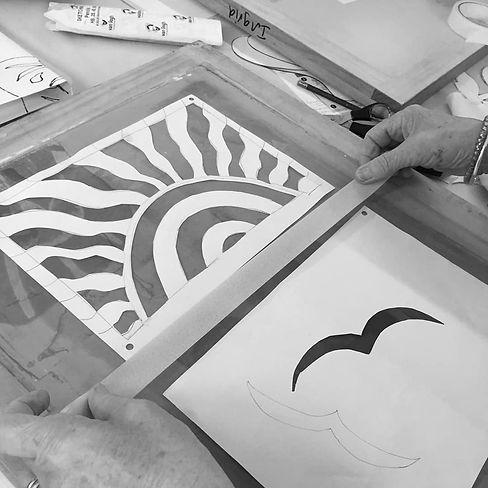 sun and bird stencils masking off.jpg