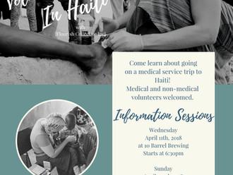 Haiti Trip Information Sessions 2019