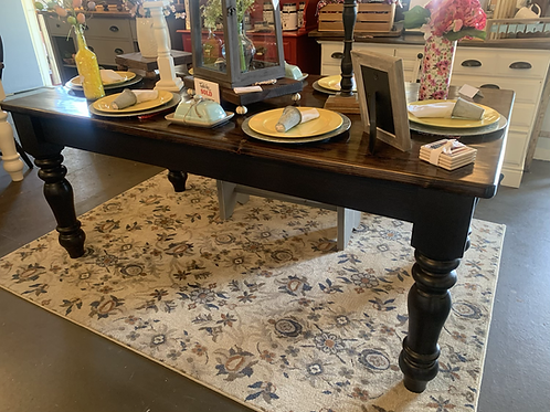 7' Farmhouse Table With Large Legs