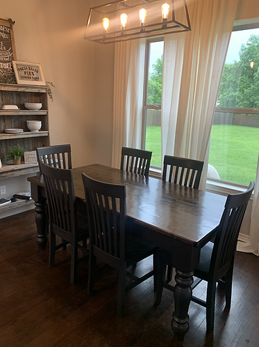 6' Farmhouse Table With Large Legs