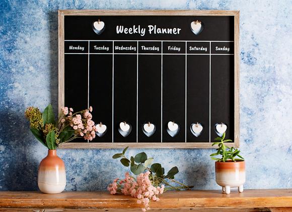 Weekly chalkboard planner