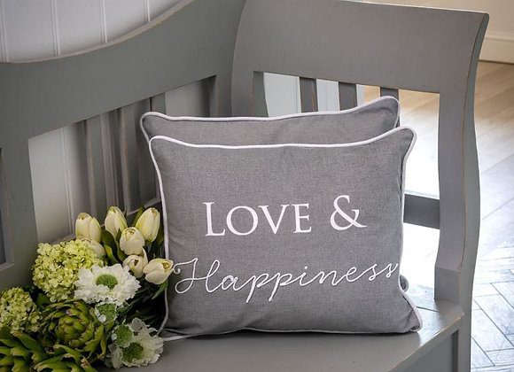 Love and happiness cushion